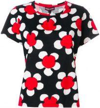 Marc Jacobs - T-shirt con margherite stampate - women - Cotton - XS - Nero