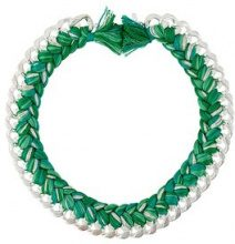 Aurelie Bidermann - 'Do Brasil' necklace - women - Silver/Cotone - OS - Verde