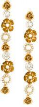 Ca&Lou - Bella long earrings - women - Brass/glass - OS - METALLIC