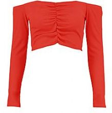 Alicia Ruched Front Crop Jumper