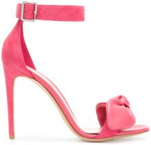 Alexander McQueen - bow detail heeled sandals - women - Calf Leather/Suede/Leather - 36, 37, 38, 38.5, 39, 39.5, 40 - PINK & PURPLE
