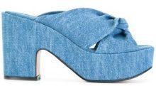 Robert Clergerie - Sandali 'Esther' - women - Cotton/Leather - 36, 37.5, 37, 39 - BLUE