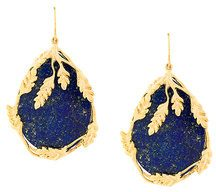 Aurelie Bidermann - Orecchini 'Francoise' - women - Gold Plated Brass - OS - BLUE