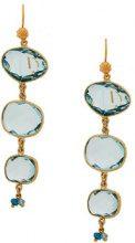 Gas Bijoux - Silene earrings - women - 24kt Gold Plate/Pietra - OS - BLUE