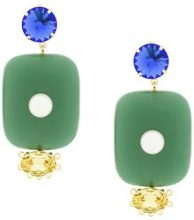 Marni - oversized pendant earrings - women - Resin/metal - One Size - GREEN