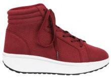 Sneakers fitness alte con parti traforate