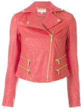 Michael Michael Kors - biker jacket - women - Calf Leather - M, L, S - RED