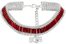 Gcds - gemstone choker - women - metal/glass - One Size - RED