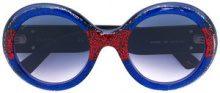 Gucci Eyewear - occhiali da sole rotondi - women - Acetate - OS - BLUE