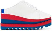 Stella McCartney - Elyse mule sneakers - women - Cotton/Polyurethane/rubber - 35, 35.5, 36, 36.5, 37, 38.5, 40, 34, 37.5, 38, 39 - WHITE