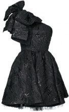 MSGM - Vestito con fiocco - women - Cotton/Polyester/Spandex/Elastane/Metallic Fibre - 40, 42 - BLACK