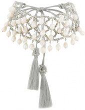 Night Market - Choker - women - Pearls/glass/stainless steel - One Size - GREY