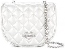 Love Moschino - quilted chain strap crossbody bag - women - Polyurethane - One Size - METALLIC