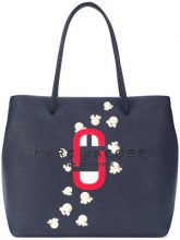 Marc Jacobs - logo Shopper East-West tote - women - Leather - One Size - BLUE