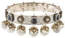 Alexander McQueen - Choker con decorazioni gioiello - women - Brass - OS - METALLIC
