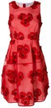 - P.A.R.O.S.H. - floral embroidered mini dress - women - cotone/fibra sintetica - S, M - di colore rosso