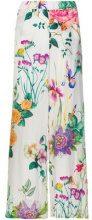 P.A.R.O.S.H. - Pantaloni con stampa a fiori - women - Silk - XS, M, S, L - MULTICOLOUR