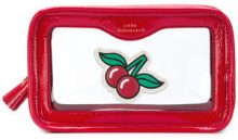 Anya Hindmarch - Trousse con ciliegie - women - Patent Leather/PVC - OS - RED