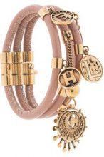 Chloé - gold-tone embellished bracelet - women - Calf Leather/Brass - S, M - PINK & PURPLE