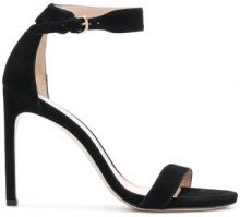 Stuart Weitzman - Sandali 'Back Up Tiz' - women - Calf Leather/Suede/Leather - 36, 38, 39, 40 - BLACK