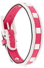 Valentino - Braccialetto 'Valentino Garavani Free Rockstud' - women - Leather - OS - PINK & PURPLE