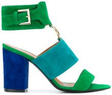 Via Roma 15 - Sandali con dettaglio anello - women - Leather/Suede - 37, 37.5, 38, 38.5, 39, 40, 36, 36.5 - BLUE