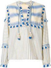 Dodo Bar Or - Blusa a righe con nappe - women - Cotone - M, L, S - Color carne & neutri