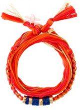 Aurelie Bidermann - cotton bracelet - women - Cotton/Brass - OS - YELLOW & ORANGE