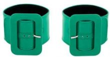 Attico - Bracciale rigido con fibbia - women - Leather - OS - GREEN