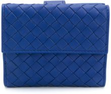 Bottega Veneta - Portamonete 'Intrecciato' - women - Lamb Skin - OS - BLUE
