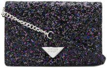 Rebecca Minkoff - glittered crossbody bag - women - Polyurethane - OS - BLACK