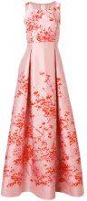 Max Mara - floral flared long dress - women - Polyester/Polyamide/Silk/Acetate - 40 - PINK & PURPLE