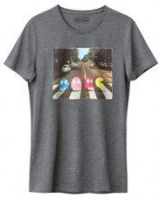 T-shirt scollo rotondo fantasia, maniche corte