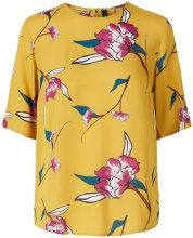Y.A.S Yellow Floral 2/4 Sleeved Blouse Women Yellow