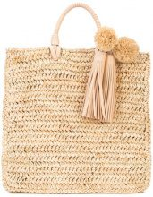Loeffler Randall - Straw Travel tote - women - Raffia/Leather - OS - NUDE & NEUTRALS