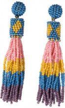 PIECES Long Pearl Earrings Women Blue
