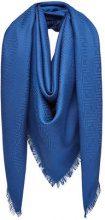 Fendi - Sciarpa monogram - women - Silk/Wool - One Size - BLUE
