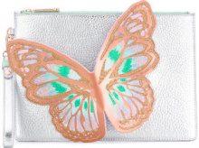 Sophia Webster - Pochette con farfalla - women - Calf Leather - OS - METALLIC