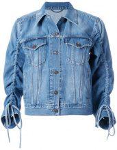 Kenzo - gathered sleeve denim jacket - women - Cotton - XS, S, M, L, XL - BLUE