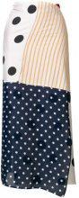 Mm6 Maison Margiela - Gonna con design patchwork - women - Silk/Cotton/Viscose - 42, 46, 40 - MULTICOLOUR
