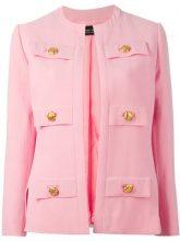 - Jean Louis Scherrer Vintage - multiple pocket jacket - women - viscose - 40 - Rosa & viola