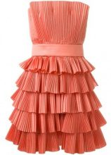 Capucci - strapless pleated dress - women - Silk/Polyester - 40, 42 - PINK & PURPLE