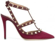 Valentino - Pumps 'Valentino Garavani' - women - Suede/Leather - 36, 37, 40, 41 - RED