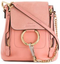 Chloé - Zaino 'Faye' - women - Cotton/Calf Leather - OS - PINK & PURPLE