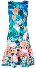 Isolda - printed flared hem dress - women - Cotton/Spandex/Elastane - 38 - BLUE