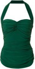Norma Kamali - Top con scollatura posteriore - women - Polyester/Spandex/Elastane - S, M, XS - GREEN