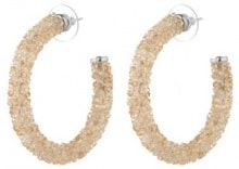 Orecchini con strass allover