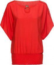 Blusa con pizzo (Rosso) - BODYFLIRT