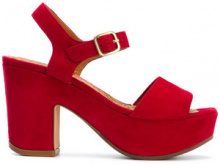 Chie Mihara - Fugile sandals - women - Leather/Suede/rubber - 36, 37.5, 38, 38.5 - RED