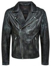 SELECTED Black Biker - Leather Jacket Men Black